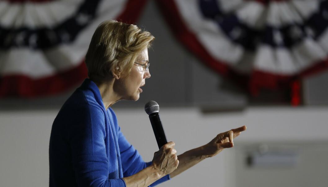 Senator Elizabeth Warren håper å bli Demokratenes presidentkandidat neste år og sparer ikke på kruttet i sin omtale av president Donald Trump. Foto: AP / NTB scanpix