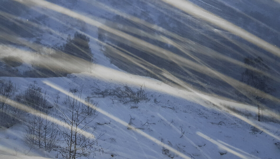 Ifølge det oppdaterte varselet fra NVE er det mandag og tirsdag betydelig fare for snøskred flere steder i landet. Her fra snøskred i Geiranger i januar. Foto: Willy Fredheim / NTB scanpix