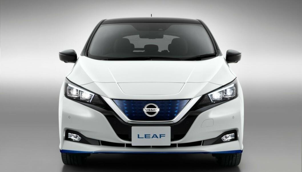 STOR INTERESSE: Over halvparten av Nissan LEAF Limited Edition med lengre rekkevidde er allerede forhåndsbestilt. Foto: Nissan