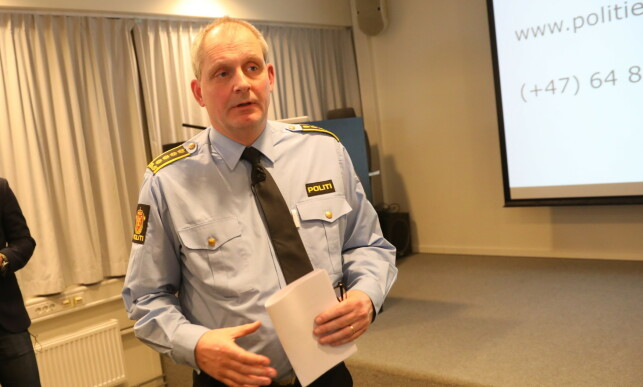 Journalists: Police Inspector Tommy Brusca held a press conference on the new contact on Monday. Photo: Christian Roth Christensen / Dagbladt