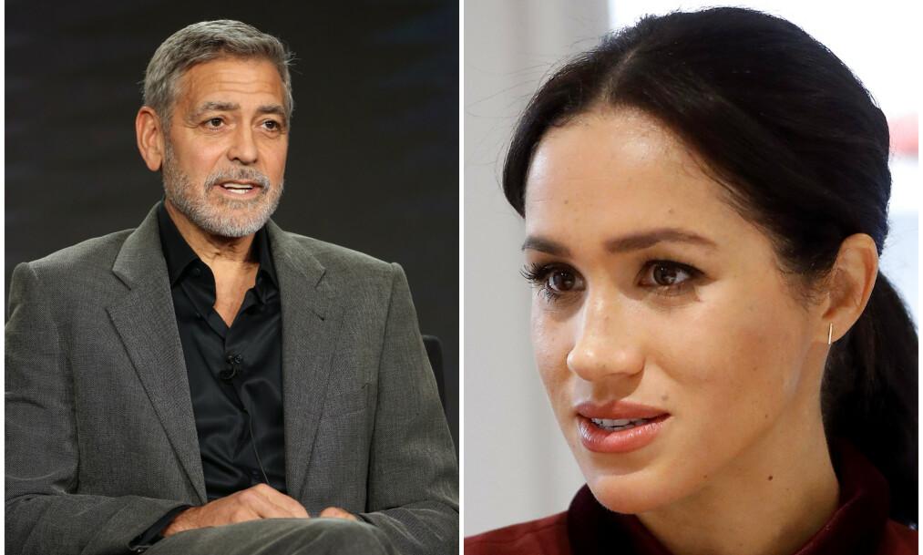 ADVARER: George Clooney advarer pressen mot behandlingen av hertuginne Meghan. Foto: NTB Scanpix