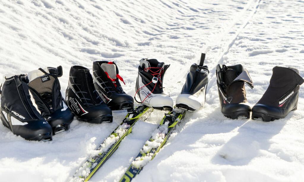 SKISKO TIL TURBRUK: Det er forskjell på hvor gode skiskoene er, viser vår test. Høyest pris trenger ikke å bety best kvalitet. Foto: Per Ervland