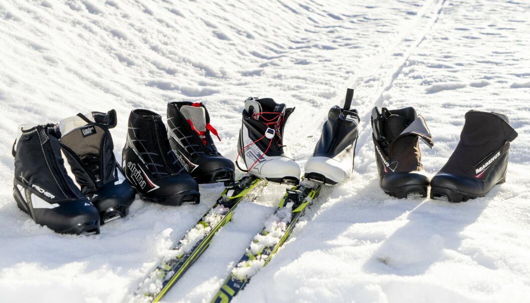 <strong>SKISKO TIL TURBRUK:</strong> Det er forskjell på hvor gode skiskoene er, viser vår test. Høyest pris trenger ikke å bety best kvalitet. Foto: Per Ervland