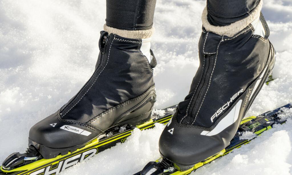 FRYSEPINN: Da er disse skoene for deg - de holder føttene varme i mange kuldegrader. Foto: Per Ervland