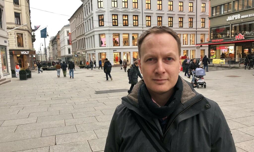 KRITISK: Landsjef for O'Learys i Norge, Matthias Klaveness Saers, mener situasjonen på O'Learys i Oslo burde ha vært håndtert for lenge siden. Foto: Gunnar Ringheim / Dagbladet