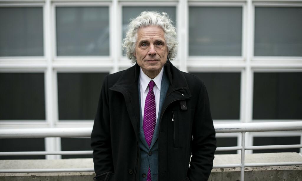PSYKOLOG: Steven Pinker (1954) er en kanadisk-amerikansk evolusjonær psykolog. Pinker er professor i psykologi ved Harvard University, og forfatter av flere populærvitenskapelige bøker. «Opplysning nå» er hans første bok på norsk. Foto: The New York Times / NTB Scanpix.