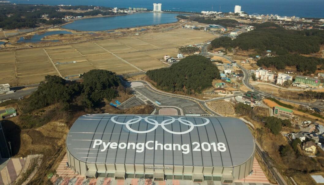 <strong>LITE SNØ:</strong> Her ble det arrangert skøyteløp i OL. Her har det vært liten aktivitet det siste året. Foto: Yelim LEE / AFP)