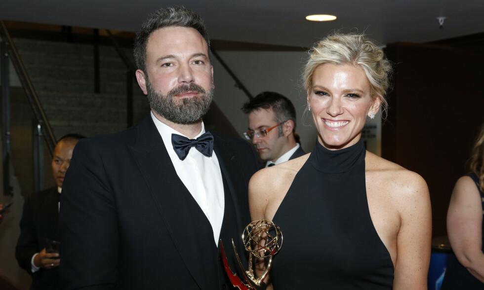 EKS-KJÆRESTER: Her er Ben Affleck og Lindsay Shookus sammen under The Primetime Emmy Awards høsten 2017 i Los Angeles. Foto: NTB Scanpix