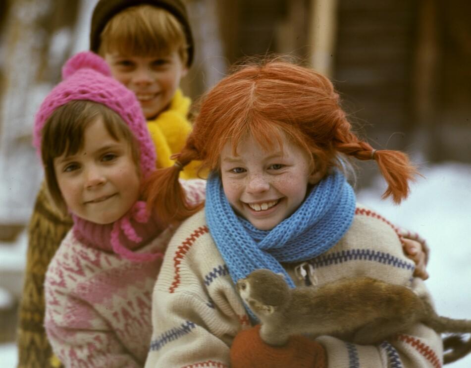 <strong>DEN GANG DA:</strong> Det var Inger Nilsson (Pippi), Maria Persson (Annika) og Pär Sundberg (Tommy) som hadde hovedrollene i den populære svenske serien fra 60- og 70-tallet. Se hvordan de ser ut i dag i saken! FOTO: NTB Scanpix