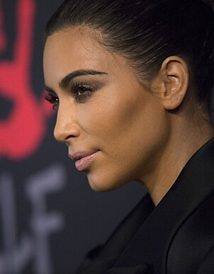 2014: Kim Kardashians nese i 2014. Allerede på dette tidspunktet verserte rykter om en mulig neseoperasjon. Foto: NTB Scanpix