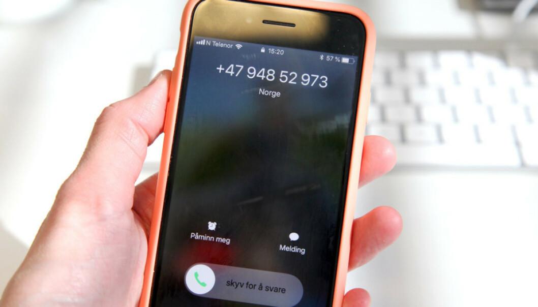 SALG: Du kan gi telefonselgere beskjed direkte om du ikke ønsker å bli oppringt (nummeret på telefonen har for ordens skyld ingenting med telefonsalg å gjøre). Foto: Lisa Wisløff