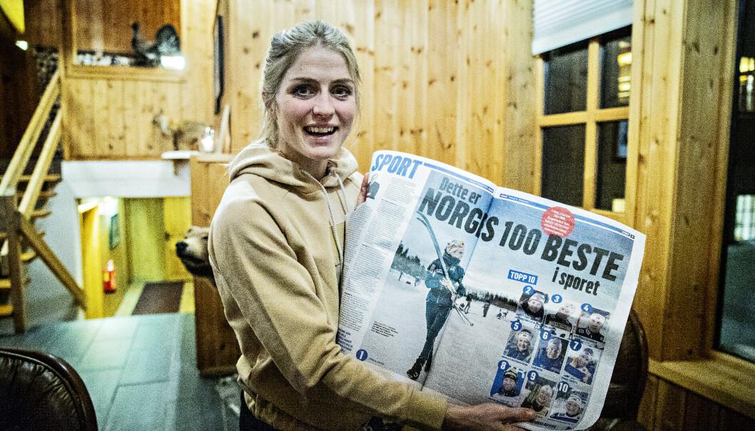 <strong>KÅRING:</strong> Therese Johaug er nr. 1 på Dagbladets kåring over Norges 100 beste langrennsløpere i dag (begge kjønn). Nå kan du kjempe om å bli nr. 1 i langrennsmanagerspillet Fantaski. Foto: Bjørn Langsem / Dagbladet