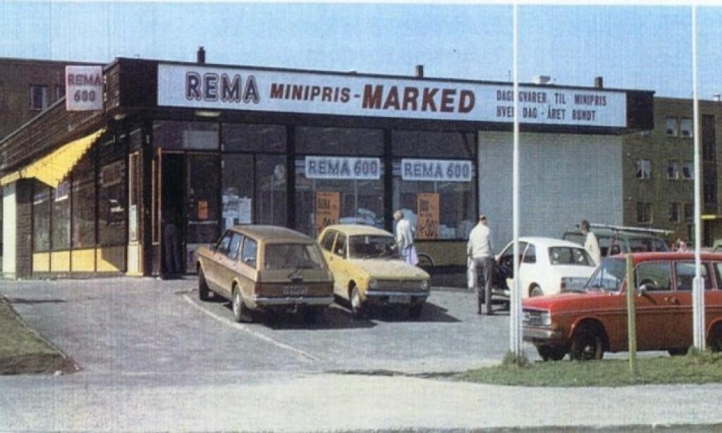 BROSTRØM: Den første Rema butikken på Bromstad i Trondheim førte 600 varer. Siden har det blitt noen flere. Foto: Rema 1000