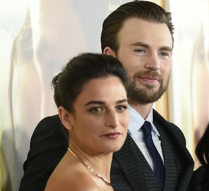 EKS: Chris Evans og skuespilleren Jenny Slate var et par frem til 2017. Foto: NTB Scanpix