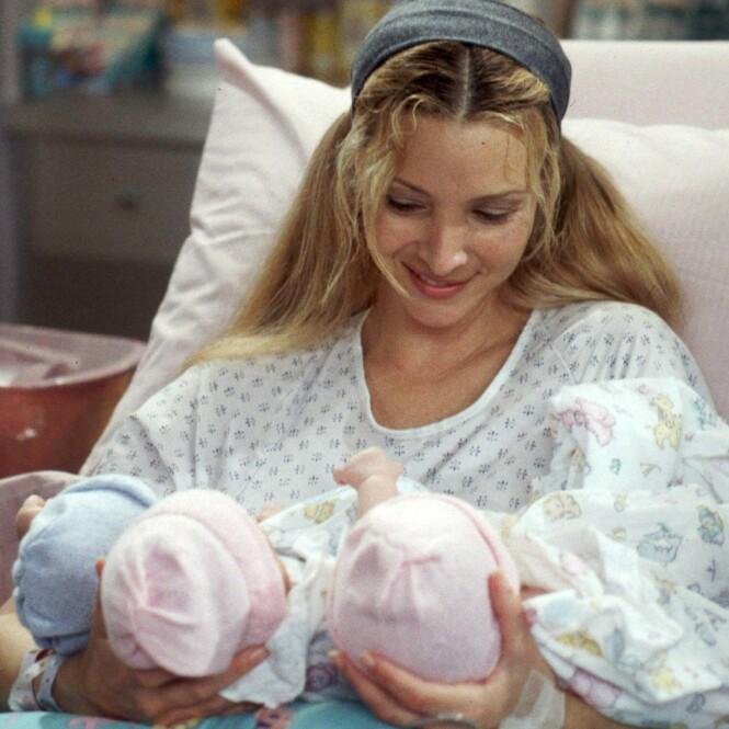 GRAVID PÅ EKTE: Da Lisa ble gravid, måtte de skrive inn en graviditet for karakteren hennes i serien. Det resulterte i trillinger på skjermen. Foto: NTB Scanpix