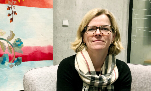 HEAD OF THE ENVIRONMENT: Director Jourunn Sunde at the Oslo office. Photo. Eiliv Frich Flydal