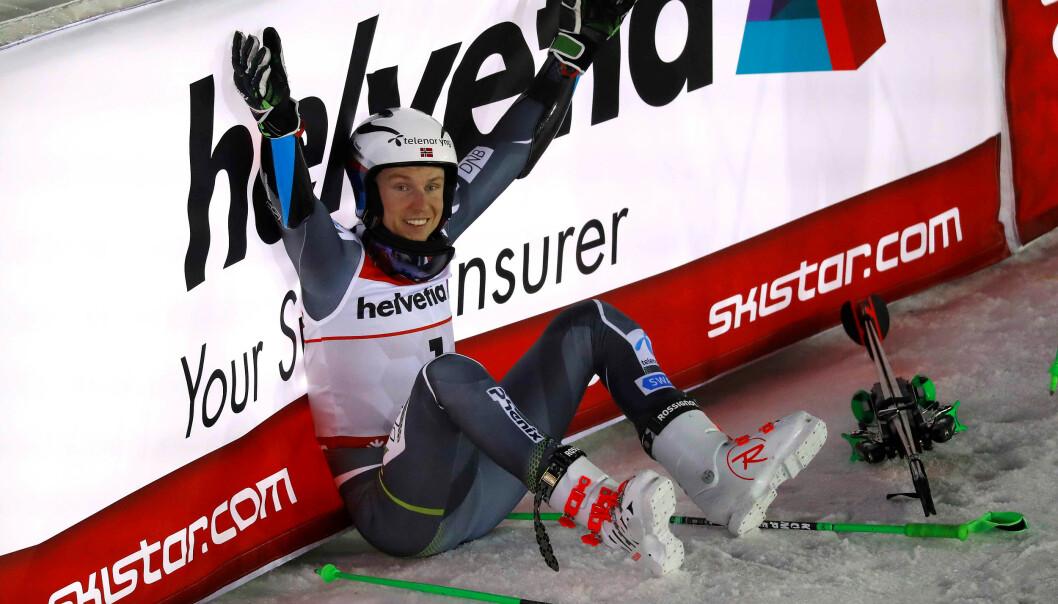 <strong>INGEN OVER:</strong> Henrik Kristoffersen er en konkurransemann av dimensjoner. Han gjør alt i sin makt for å vinne. Foto: NTB Scanpix