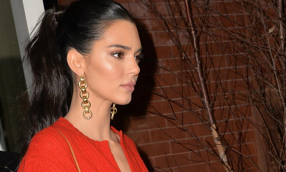 VAR BORTE: Da hele Kardashian-Jenner-familien samlet seg tidligere denne måneden var Kendall Jenner bortreist. Det synes hun er tungt. Foto: NTB Scanpix