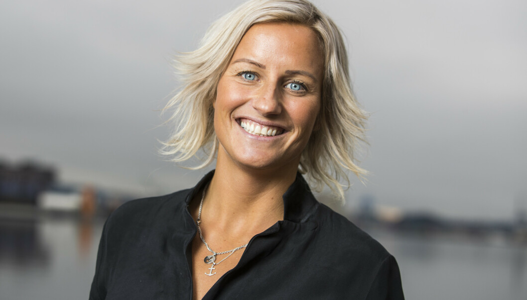 Vibeke Skofterud under Discovery Networks vårlansering og markering av 100 dager til OL. Foto: Håkon Mosvold Larsen / NTB scanpix