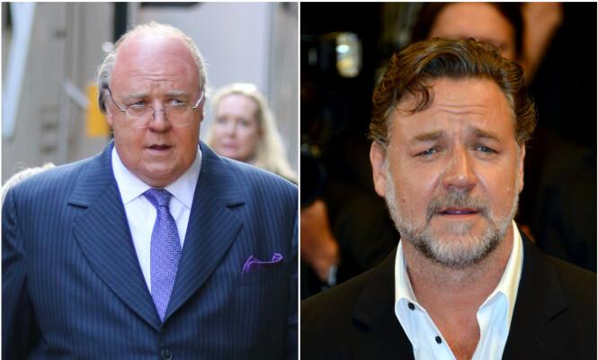 UGJENKJENNELIG: Russell Crowe er ikke til å kjenne igjen i rollen som Roger Ailes. foto: NTB Scanpix