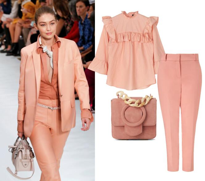 Bluse fra Stella Nova, kr 1500. Veske fra Zara, kr 560. Bukse fra Hallhuber, kr 1000.