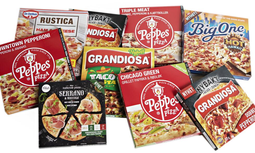 PIZZAFEST: Denne uka kom ni nye pizzaer i butikk. Vi har testet nyhetene.