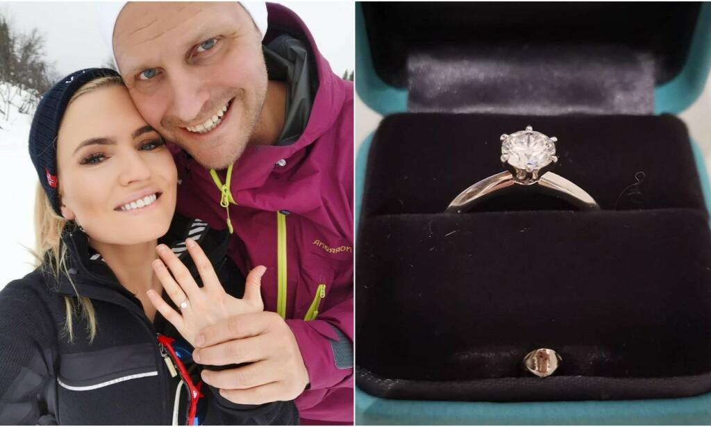 FORLOVET: Isabelle Kristine Ringnes forlovet seg på skitur lørdag. Dét hadde hun ikke sett komme, sier hun til Se og Hør. Foto: Privat