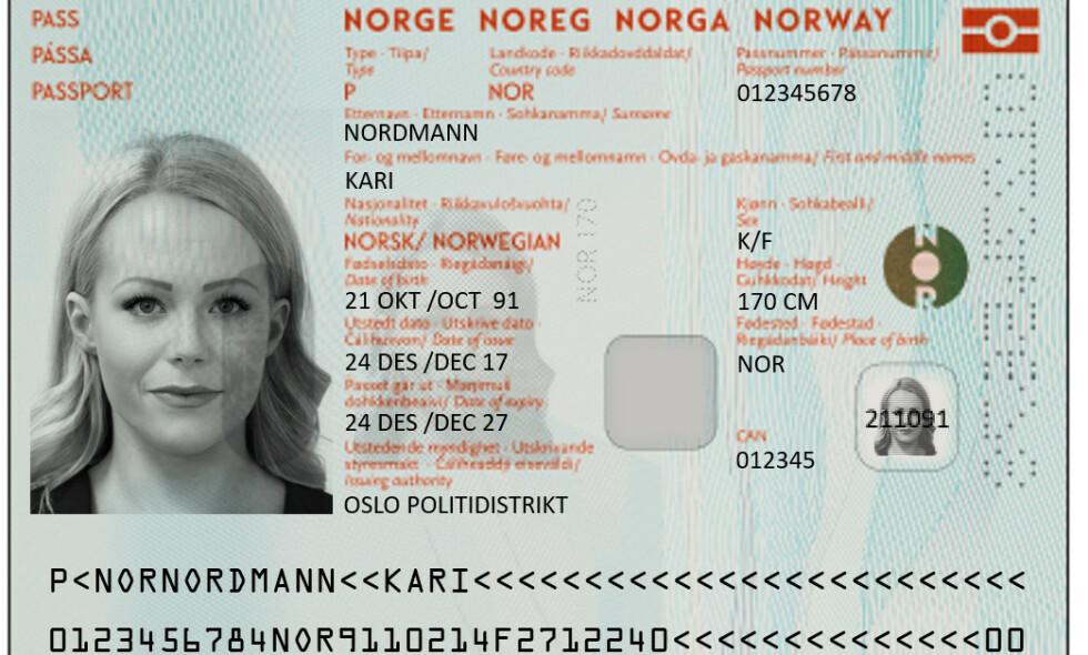 ØNSKET: Nordmenn på Østlandet kjører kilometer på kilometer i jakt etter små passkontor som ikke har timebestilling. Her er det nye, ordinære passet, som ble klart sist sommer. Foto: Politiet / NTB Scanpix