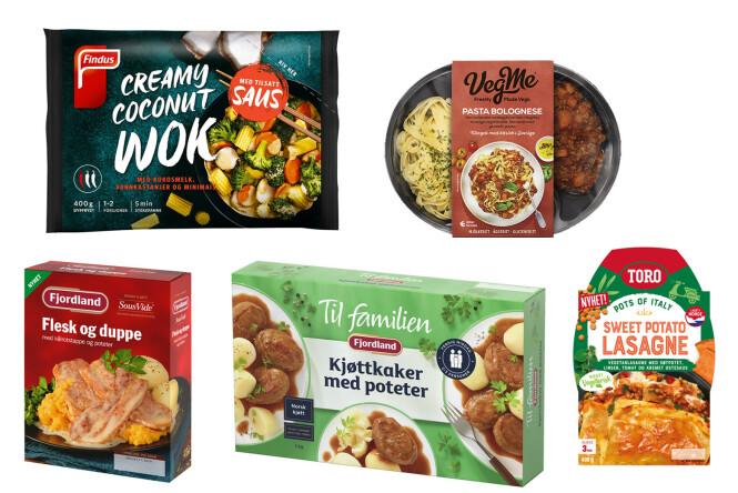 <strong>HELT FERDIG:</strong> Utvalgte nyheter fra Findus, Orkla Foods, VegMe og Fjordland.