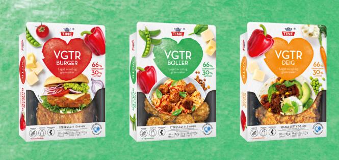 <strong>VGTR:</strong> Ostebaserte kjøtterstatninger fra Tine.