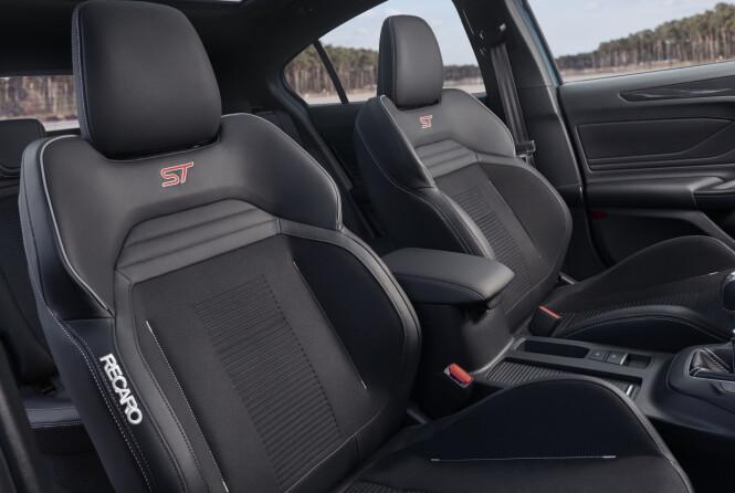 <strong>DET VAR BEDRE:</strong> Focus ST tilbys med sportsseter fra selveste Recaro. Foto: Ford