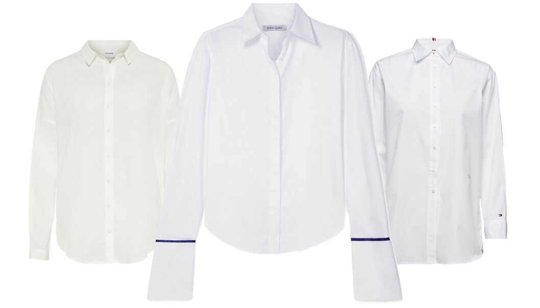 Fra venstre: Skjorte fra Vero Moda, kr 350. Skjorte fra Anna Quan via Net-a-porter.com, kr 2464. Skjorte fra Tommy Hilfiger via Zalando, kr 1100.