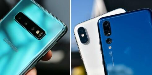 Slik er Galaxy S10 sammenliknet med iPhone XS og Mate 20 Pro