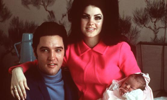 <strong>EN DATTER:</strong> Priscilla og Elvis fikk datteren Lisa Marie Presley (51) sammen. Foto: NTB scanpix