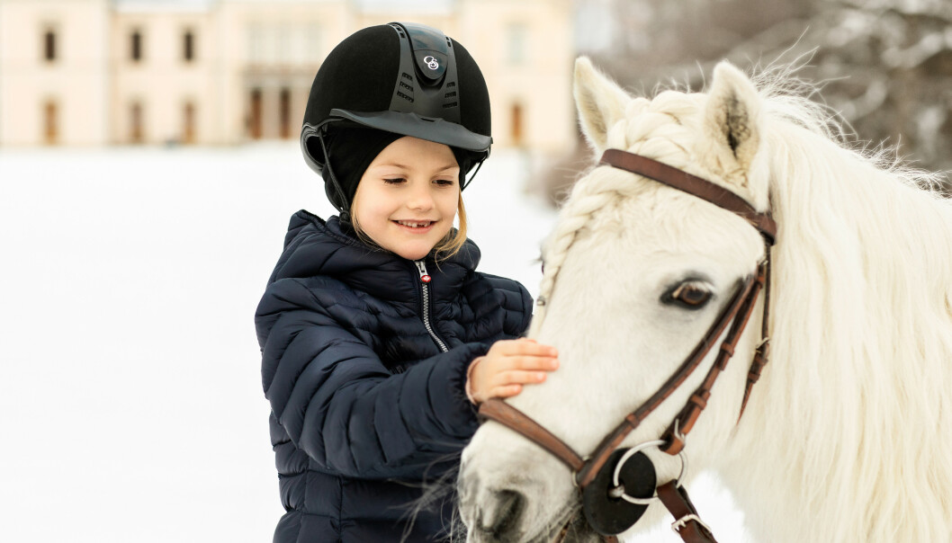<strong>BURSDAG:</strong> Estelle fyller syv år i dag, 23. februar. Foto: Linda Broström / Det svenske kongehuset