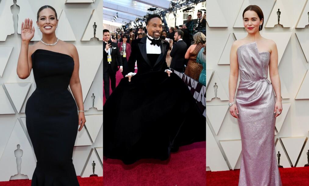 <strong>FORSKJELLER:</strong> Natt til mandag gikk Oscar-utdelingen av stabelen i Los Angeles, og Hollywoods mest berømte dukket opp i sin fineste stas. Foto: NTB scanpix