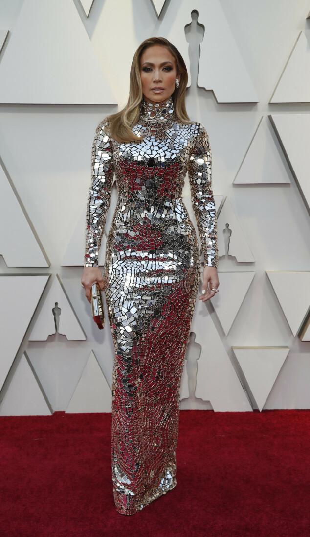 <strong>WOW:</strong> Jennifer Lopez har god tradisjon for å kuppe røde løpere, og nattens Oscar-utdeling ble ikke noe unntak. Foto: NTB scanpix
