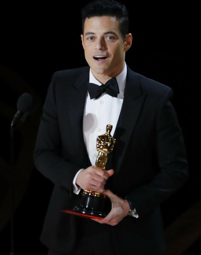 STOLT: Rami Malek var årets beste mannlige skuespiller, ifølge Oscar-akademiet. Foto: NTB scanpix