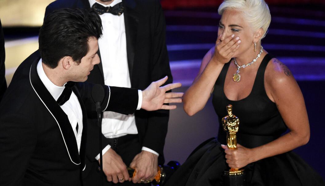 <strong>VANT:</strong> Lady Gaga vant sin aller første Oscar for låta «Shallow». Foto: ROB LATOUR/REX/SHUTTERSTOCK