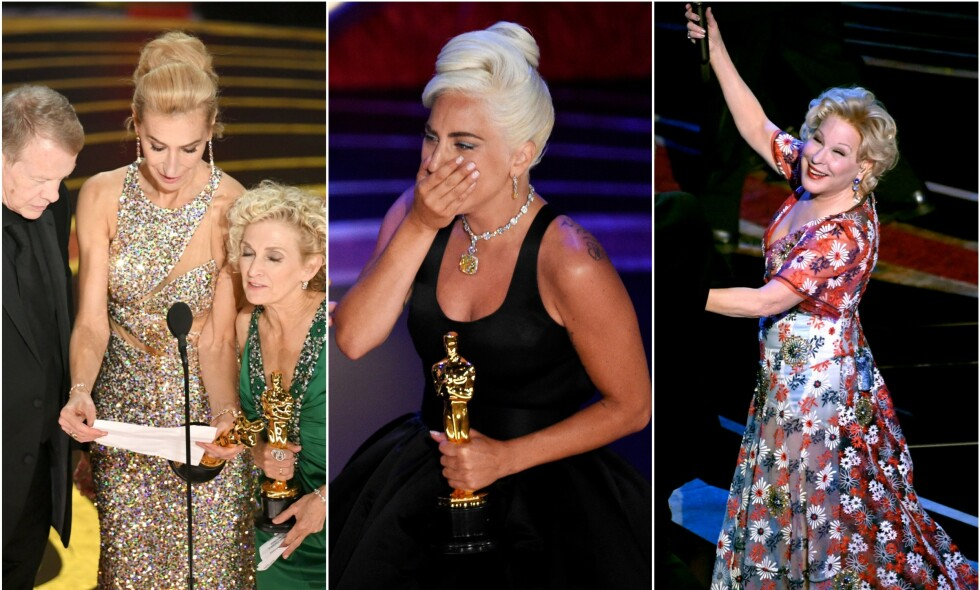 SNAKKISER: I kjent stil har det blitt flere snakkiser etter nattens Oscar-utdeling. Men selv med både kaos under takketale og flere underholdningsbidrag, slaktes utdelingen. Foto: NTB Scanpix