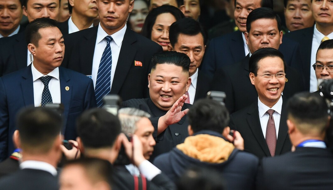 <strong>HOTELLTABBE:</strong> Da Kim Jong-un ankom Vietnam tirsdag, oppdaget nordkoreanerne at hotellet han skulle bo på, også skulle være hovedkvarteret for det amerikanske pressekorpset. FOTO: Nhac Nguyen / AFP / NTB Scanpix