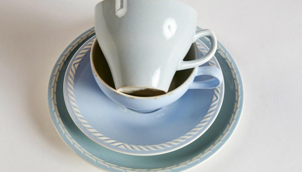 GODHJERTA: «Sissel» tekopp (kr 150). Sett med skål, kopp og asjett x 2. Foto: Jan Larsen