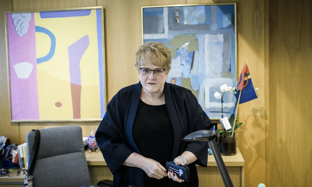 <strong>HISTORISK:</strong> Aldri tidligere har en partileder hatt lavere oppslutning blant egne velgere på Ipsos' målinger. Venstre-leder Trine Skei Grande er ikke overrasket. Foto: Lars Eivind Bones / Dagbladet