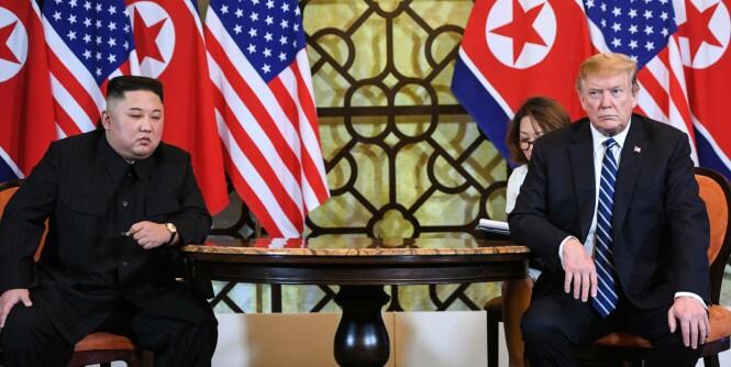 Ingen avtale mellom Trump og Kim - toppmøte avbrutt