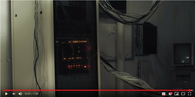 The mainframe (screenshot from the movie).