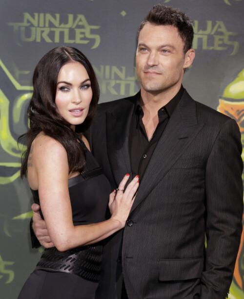 <strong>2004:</strong> Brian Austin Green har vært sammen med skuespillerkollega Megan Fox siden 2004. Sammen har de tre sønner. Foto: NTB Scanpix