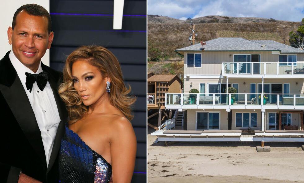 NYTT HUS: Jennifer Lopez (49) og Alex Rodriguez (43) har bladd opp 56 millioner kroner for et nytt strandhus. Foto: NTB Scanpix