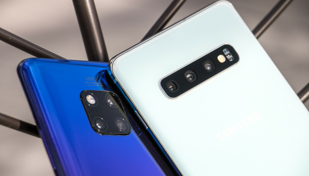 <strong>TO AV DE ALLER BESTE:</strong> Vi har testet kameraet i Samsungs nye Galaxy S10+ mot Huaweis toppmodell, Mate 20 Pro. Foto: Pål Joakim Pollen