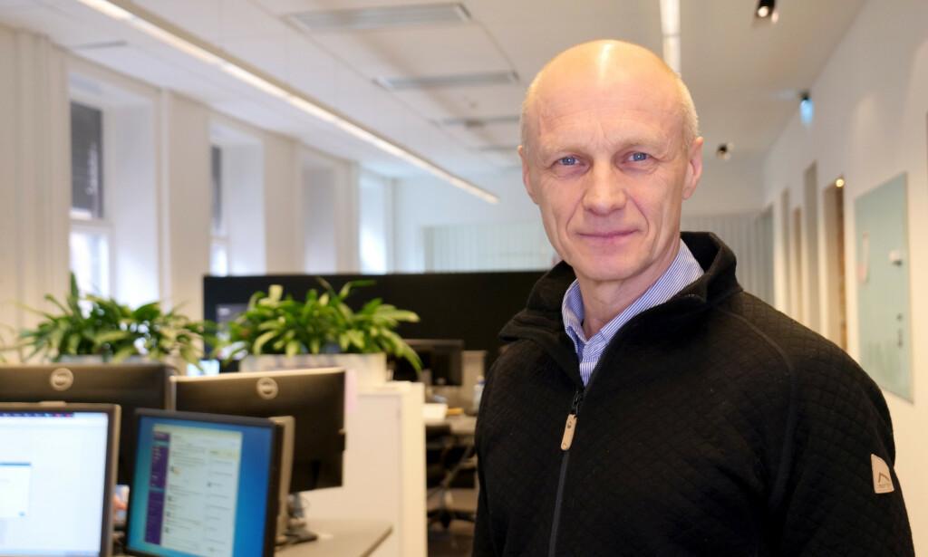 KRITISK: Espen Udland, administrerende direktør i ABC Startsiden, som eier ABC Nyheter, sier de ikke var kjent med misbruket av deres innhold. Foto: ABC Startsiden