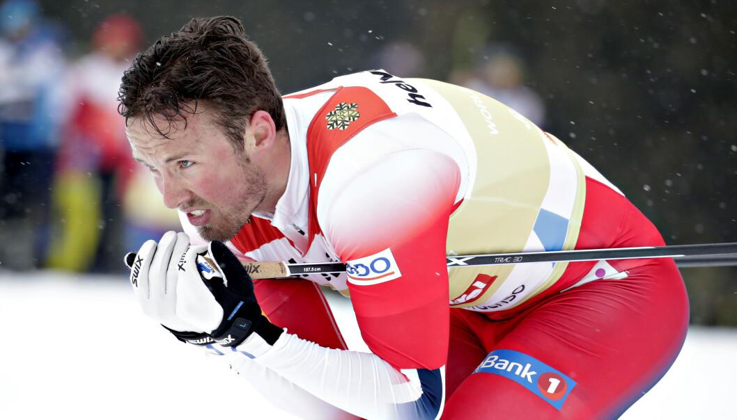 <strong>GULLGUTT:</strong> Emil Iversen reiser hjem fra Seefeld med to gullmedaljer i bagasjen. Foto: Bjørn Langsem / Dagbladet
